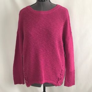 Christopher & Banks Fuchsia Long Sleeve Sweater